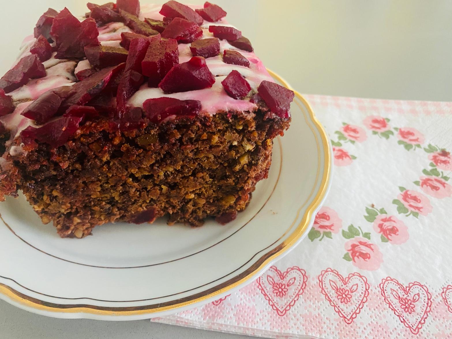Schoko-Mandel-Rüben-Kuchen